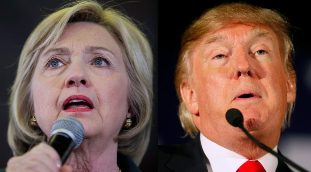 Candidates Trump and Hilary