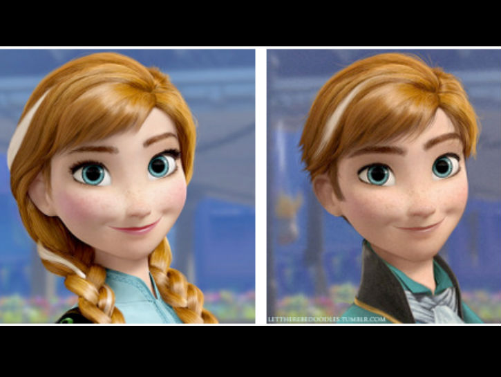 Gender disney swap frozen safe